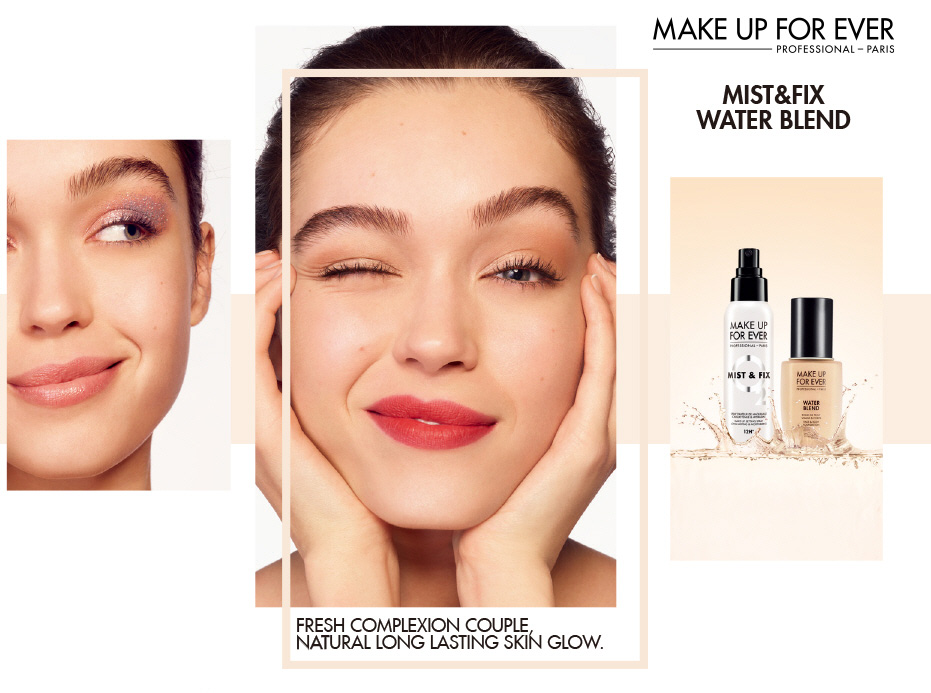Make up for Ever. mist&fix water blend