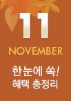 혜택 총정리 11월
